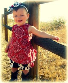 Country Girl Pinafore & Cow Print BloomersNewborn by justtooocute, $39.00, so cute, now this is thinking!