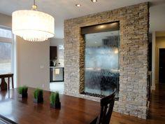 Декоративный водопад в интерьере квартиры