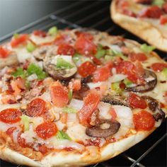 "Pita Pizza | ""I can't believe I never made these before. Fantastic. Not enough for dinner but they do make a perfect snack."""