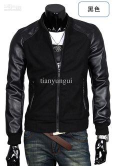 Best 2013 New Men's Jackets Pu Leather Korea Popular Men's Outerwear 003 Online with $37.5/Set | DHgate