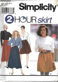 Simplicity 9935 Misses 2 Hour Skirt Pattern, Two Lengths, Size 6-12, UNCUT by DawnsDesignBoutique on Etsy