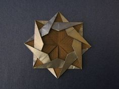 Kraft paper origami star