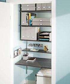 Image detail for -The Container Store > Tip > Turn a Closet Into An Office