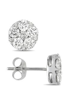Oh yes...I'd say these are oh so me |  1 ct Multi Diamond Stud Earrings in 10k White Gold