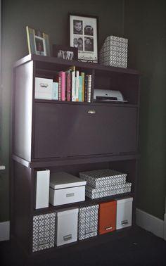 Hideaway Desk + storage