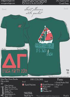 cute DG boat shirt crush party - delta gamma