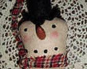 Snow Head Christmas Ornament