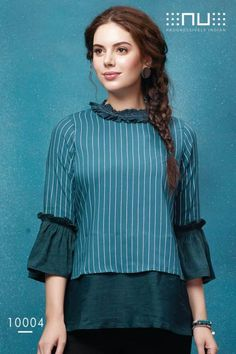 Specification : NAME :Nu Vol 1 TOTAL DESIGN :7 PER PIECE RATE : 395/- FULL CATALOG RATE : 2765/-+(5%GST) + Shipping Charge WEIGHT :4 SIZE :M   L   XL   XXL Type :Ladies Top MOQ :Minimum 7 Pcs. Fabric :Rayon New Kurti Designs, Kurta Designs Women, Designs For Dresses, Short Kurti Designs, Kurti Sleeves Design, Western Tops, Fancy Tops, Short Tops, Mode Outfits