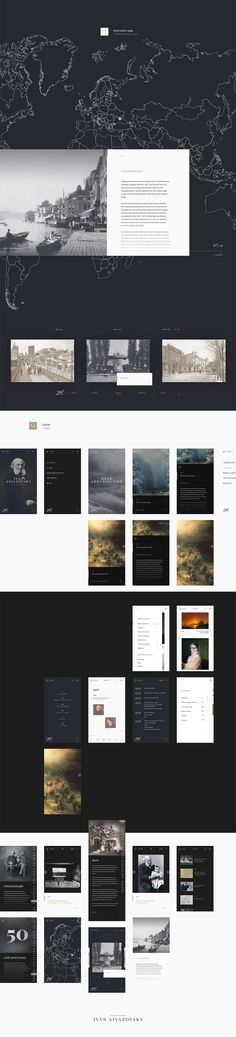 Ivan Aivazovsky Anniversary concept #webdesign #interaction #UI #200th