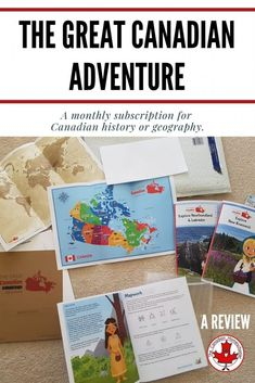 The Great Canadian Adventure is a subscription-based program that sends your child a history or geography of Canada activity kit each month. Geography Of Canada, World Geography, Printing Practice, Canadian History, Newfoundland And Labrador, New Brunswick, Hands On Activities, How To Introduce Yourself, Homeschooling