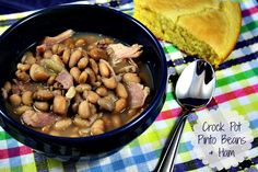 Mommy's Kitchen - Country Cooking & Family Friendly Recipes: Crock Pot Pinto Beans & Ham