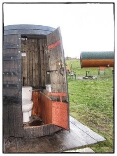 Terribly glamourous glamping toilet at the High Seas Hobbit House