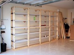 The idea of building shelves in the garage Building Shelves in Garage, Installation Tips