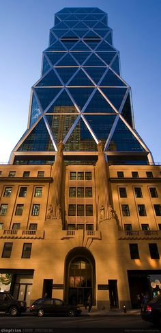 Hearst Tower uses the original the original 1928 Hearst International Magazine Building as its pedestal.