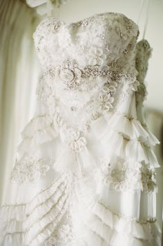 Beaded Ruffled Bridal Gown | photography by http://www.sarahkchen.com