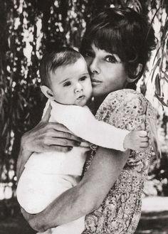Audrey Hepburn with her baby Luca, 1970. <3