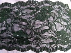 6' wide Lace Trim Beautiful Black Lingerie Bridal Wedding wide stretch lace trim Decorating DIY Craft Supply Clothing 1 Yards ** Details can be found by clicking on the image.