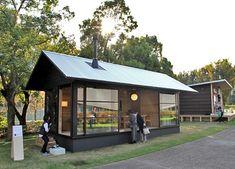 naoto fukasawa embodies his idea of peacefulness in a timber retreat muji hut / The Green Life Japanese Architecture, Architecture Design, Muji Hut, Wooden Hut, Naoto Fukasawa, Tokyo Design, Barn Renovation, Patio Gazebo, Tiny House Cabin