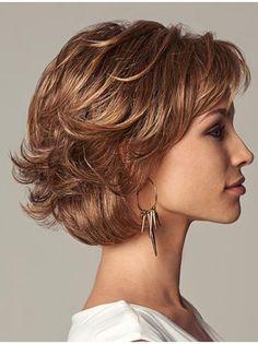Sleek Layered Auburn Lace Front Wigs