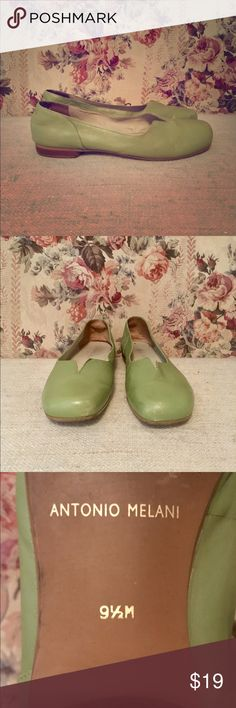 Antonio Melani low heeled dress shoes Antonio melani low heeled lime green dress shoes perfect with dress pants good condition used size 9 1/2m ANTONIO MELANI Shoes Heels