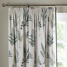 Fern Green Pencil Pleat Curtains | Dunelm Green Pencil Pleat Curtains, Pleated Curtains, Green Curtains, Lined Curtains, White Curtains, Curtain Styles, Curtain Designs, Types Of Curtains, Curtains With Blinds