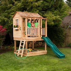6 x 6 Little Squirt Playhouse - Outdoor Playhouses at Play Houses