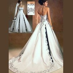 Wish there was straps   plus size wedding gowns with color | size wedding dresses 28w 44w simple plus size wedding dresses