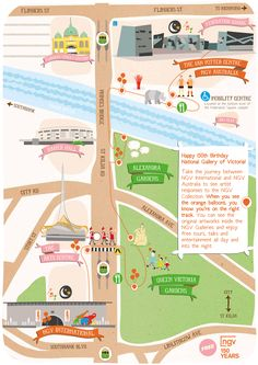 map of the National Gallery of Victoria by Fleur Harris