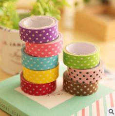 Cheap sticker paper manufacturers, Buy Quality paper logo directly from China paper cap Suppliers:    1PCS 8 colors DIY Cute Cartoon w*s*i tape Sticker Paper Dots for Scrapbooking Decoration Stationery Free shipping 901