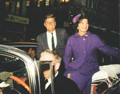 1960. Octobre. John F. Kennedy and wife Jacqueline Kennedy campaigning in New York City