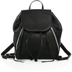 Rebecca Minkoff Bryn Moto Leather Backpack (18,200 PHP) ❤ liked on Polyvore featuring bags, backpacks, backpack, apparel & accessories, black, leather zip backpack, draw string backpack, strap backpack, day pack backpack and leather drawstring backpack