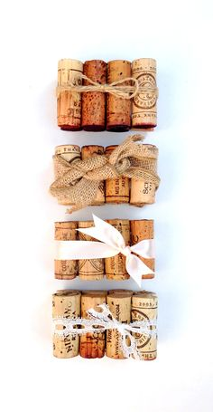 The rustic wedding essentials can all be found here! Burlap, Lace & Twine Table Number Holders, custom made-to-order from hand-selected vintage wine corks & all natural materials.