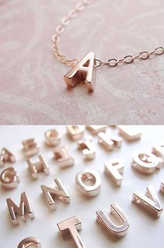 Rose Gold Initial Necklace | http://uncovet.com/designer-spotlight/olive-yew/tiny-rose-gold-initial-necklace?via=HardPin=type56