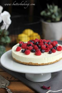 Lemon Berry No-Bake Cheesecake | Butter Baking