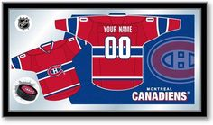 Montreal Canadiens NHL Jersey Mirror