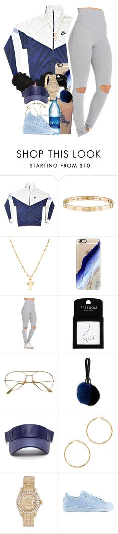 """""""amnesia"""" by thaofficialtrillqueen ❤ liked on Polyvore featuring NIKE, Cartier, Casetify, Topshop, Vince and Rolex"""