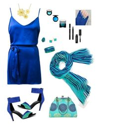 """Aqua Royal"" by lmello on Polyvore featuring Vera Bradley, ALDO, Dinosaur Designs, Ginette NY, Shany, MAC Cosmetics, Laura Mercier, Sisley, Bobbi Brown Cosmetics and Kalencom"