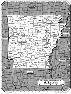 """Arkansas counties & county seats ~ From Ancestry Wiki """"Arkansas Family History  Research""""  #genealogy"""