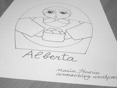 Alberta  patrón digital de matrioska para bordar por Gineceo, $1.99