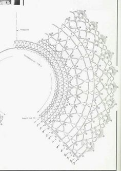 Picasa Web Albums. PICTURE ONLY. Crochet woman's collar pattern diagram