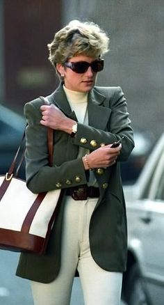 October 15, 1994: Princess Diana shopping at Harvey Nicholls in Knightsbridge, London.