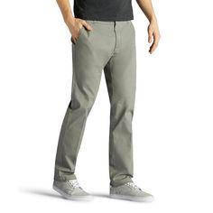 Men's Lee Performance Series Extreme Comfort Khaki Slim-Fit Flat-Front Pants, Size: 30X29, Grey Other