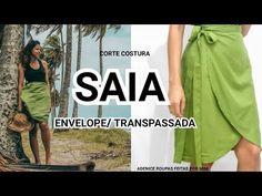 SAIA PAREÔ / TRANSPASSADA SEM OVERLORK - YouTube Sewing Patterns, Youtube, Casual, Skirts, Origami, Dresses, Nice, Create, Instagram