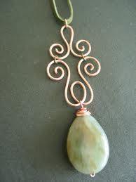 Bebeca Artesanato: Pingente com fio copper                              …