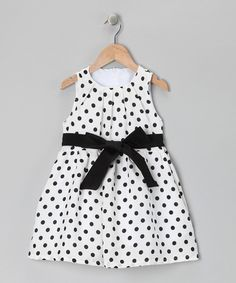 Black & White Polka Dot Dress - Toddler & Girls by POP Couture #zulily #ad *cute
