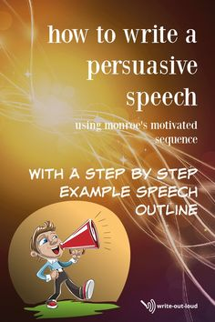 Use this proven step by step method to persuade. Explanation with an example outline. Speech Writing Tips, Writing Strategies, Speech Outline, Writing Outline, Public Speaking Activities, Public Speaking Tips, Middle School Ela, Learn English, Esl