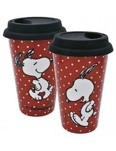 snoopy insulated cups - this site also has travel mugs that I've been wanting…