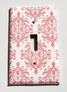 Switch Plate Cover - Materials: switch plate, decorative paper, mod podge, acrylic (Coated with acrylic for durability).