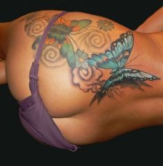 Butterfly Tattoo Designs For Girls Lower Back