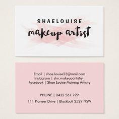 Pink Blush Makeup Artist Business Card